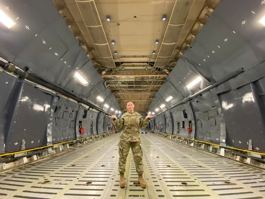 Capt. Katie Spencer, public affairs officer assigned to the 5th Bomb Wing at Minot Air Force Base, poses for a photo. (Courtesy photo from Capt. Katie Spencer)
