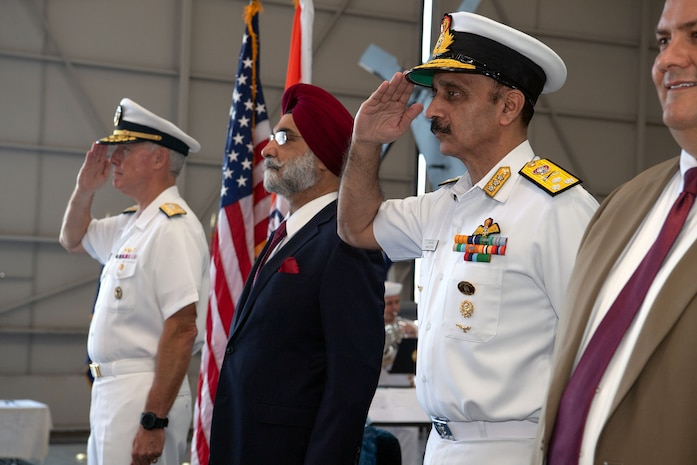 U.S., Indian navies hold ceremony to commemorate India's first MH-60R