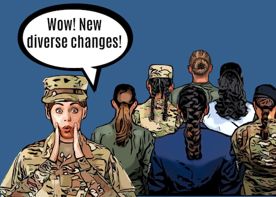 The U.S. Air Force has made various changes to the service's dress and appearance guidance during 2021, one of which being female hair grooming standards.