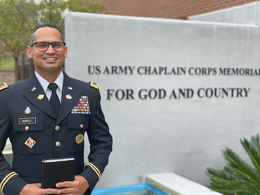 Army Master Sergeant David Montes Jr. poses for a photo in front of the Far East District headquarters building, prior to his commission at the Far East District Compound in Seoul, August 31, 2018.