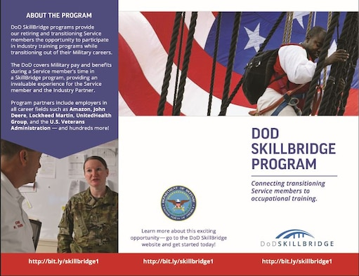 Airmen preparing to separate from active duty service can take steps toward their next career using the Department of Defense SkillBridge Program.