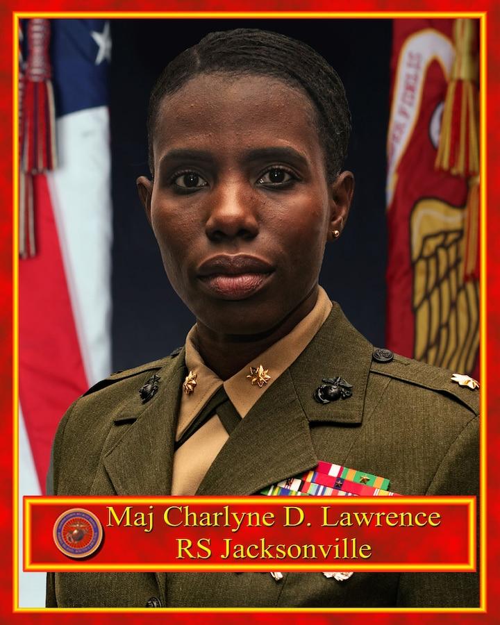 Maj. Charlyne D. Lawrence command board photo.