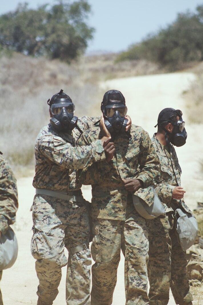 CLB-13 Marines conduct CS gas training
