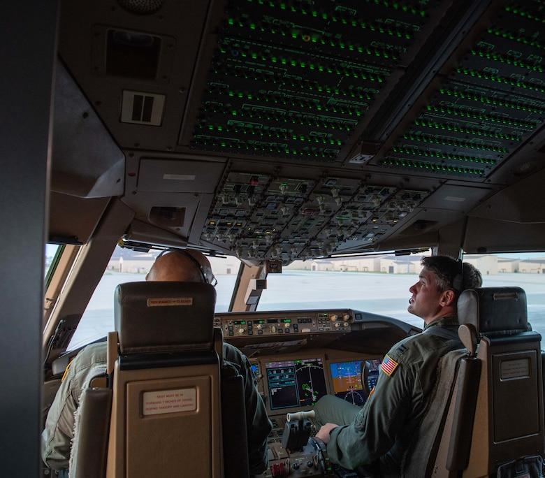 Pilots conduct preflight checks