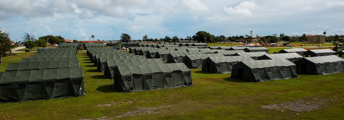 - Tents in support of Exercise Forager 21 are shown on Andersen Air Force Base, Guam, June 2021. Soldiers from Alaska, Arizona, Hawaii, Virginia, Texas, and Washington state traveled to AAFB to participate in Exercise Forager 21. (U.S. Air Force photo by Senior Airman Michael S. Murphy)