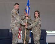 The 192nd Maintenance Squadron holds an assumption of command ceremony July 11, 2021, at Joint Base Langley-Eustis, Virginia. Lt. Col. Elim H. Sniady assumed command of the squadron after serving as Air National Guard Combat Forces advisor.