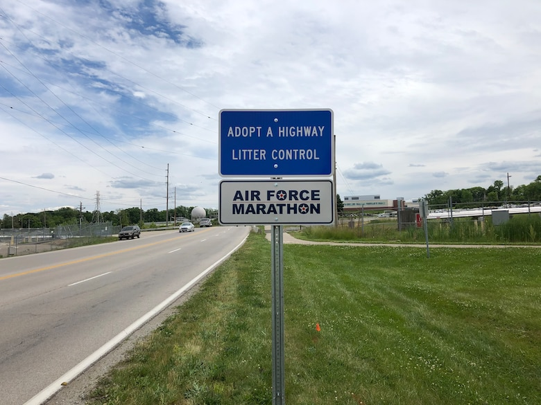 Committed to cleaning a stretch of road three times a year, the Air Force Marathon Office has adopted part of Kauffman Avenue from State Route 444 down to Wright State University.  Cleanups are planned for mid-spring, late summer and fall. CONTRIUTED PHOTO