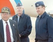 """Secretary of Transportation Norman Y. Mineta, Admiral Richard Bennis and Lt. Commander Paul Gerecke at Newark Airport Sept. 23, 2001.""; CG# 010923-C-9409S-508 (FR); photo by PA2 Tom Sperduto."