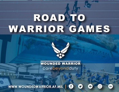The 2021 Department of Defense Warrior Games Team Air Force is at Joint Base San Antonio-Randolph, Texas for a week of intense training in preparation for the games in September. (U.S. Air Force Graphic by Melissa Espinales)