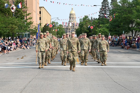 troops marching