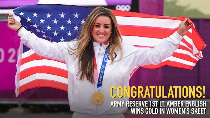 Olympic Gold Medalist 1st Lt. Amber English