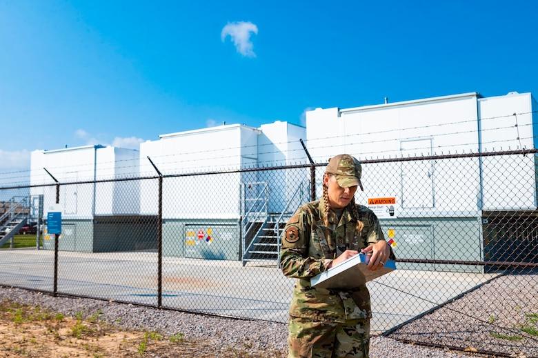 Photo of airman outside