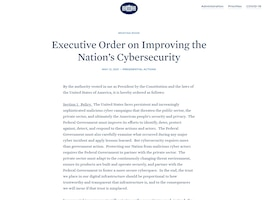 Executive Order on Improving the Nation's Cybersecurity
