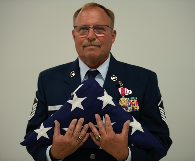 Master Sgt. Coty retires