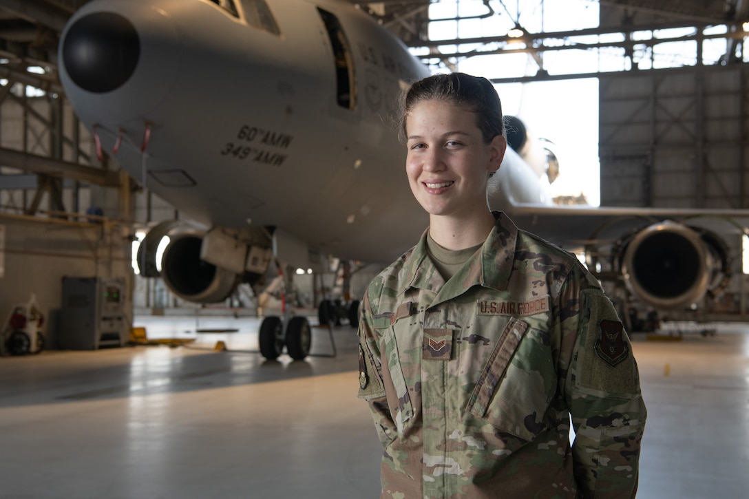 Senior Airman Ashley Walsh helps to keep 349th Air Mobility Wing ready to fly