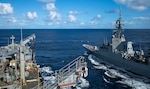 USNS Rappahannock (T-AO 204) resupplies HMAS Brisbane (DDG 41) during Exercise Talisman Sabre 21. This is the ninth iteration of Talisman Sabre, a large-scale, bilateral military exercise between Australia and the United States involving approximately 17,000 participants from seven nations. The month-long, multi-domain exercise consists of a series of training events that reinforce the strong U.S.-Australian alliance and demonstrate the U.S. military's unwavering commitment to a free and open Indo-Pacific.