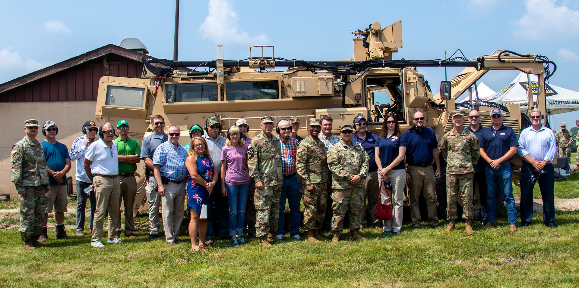 LaSalle County, Illinois, leaders joined leaders of the Illinois National Guard for the official dedication of the Automated Record Fire Range at the Marseilles Training Center in Marseilles, Illinois, July 23. The $4.6 million federally-funded project updated the target systems and expanded the ARF by 10 firing positions.