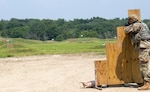 A Soldier in the Illinois Army National Guard demonstrates the Automated Record Fire Range at the Marseilles Training Center in Marseilles, Illinois, during a dedication event and capabilities demonstration, July 23. The $4.6 million federally-funded project updated the target systems and expanded the ARF by 10 firing positions.