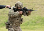 U.S. Army Sgt. 1st Class Christopher Catlin, team member, Colorado Army National Guard small arms team, competes in the 2021 U.S. Army