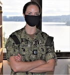 """Photo By Douglas Stutz   shore line support...Lt. Caitlin Sleight, clinical psychologist, division officer and Marine Corps Security Force Battalion Psychology Liaison for NMRTC Bremerton's Mental Health Department, was recently selected as the command's Junior Officer of the Quarter. Her expertise as a clinical psychologist is an apt paradigm of the importance attached to mental health and wellness by Navy Medicine and the Military Health System. """"Paying attention to our behavioral health is an important aspect of overall health. It is the foundation of warrior toughness and resiliency for service members,"""" explained Sleight (Official Navy photo by Douglas H Stutz, NHB/NMRTC Bremerton public affairs officer)."""