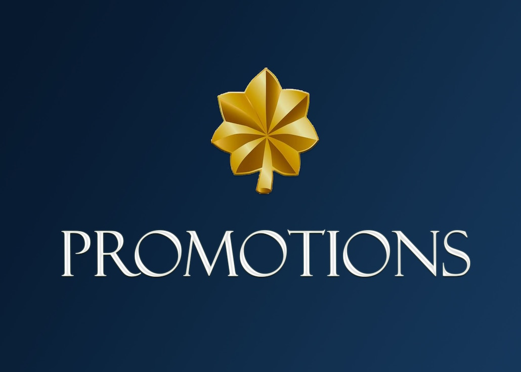 Major promotions. (U.S. Air Force graphic by Lt. Col. Marnee A. C. Losurdo)