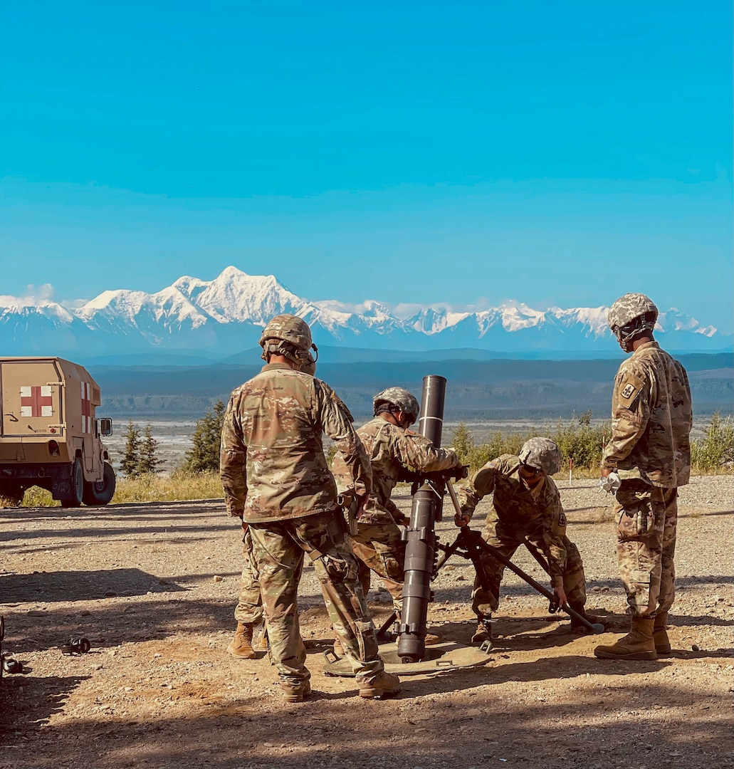 Indirect fire infantrymen with the Alaska Army National Guard's 1st Battalion, 297th Infantry Regiment conducted live-fire training on various weapon systems at Donnelly Training Center, near Fort Greely, Alaska, July 19, during their annual training event.