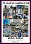 A poster shows a semi-transparent POW/MIA graphic superimposed on a collage of images relevant to National POW/MIA Recognition Day.