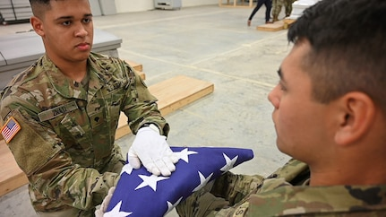 Virginia Guard Soldiers train on basics of Military Funeral Honors