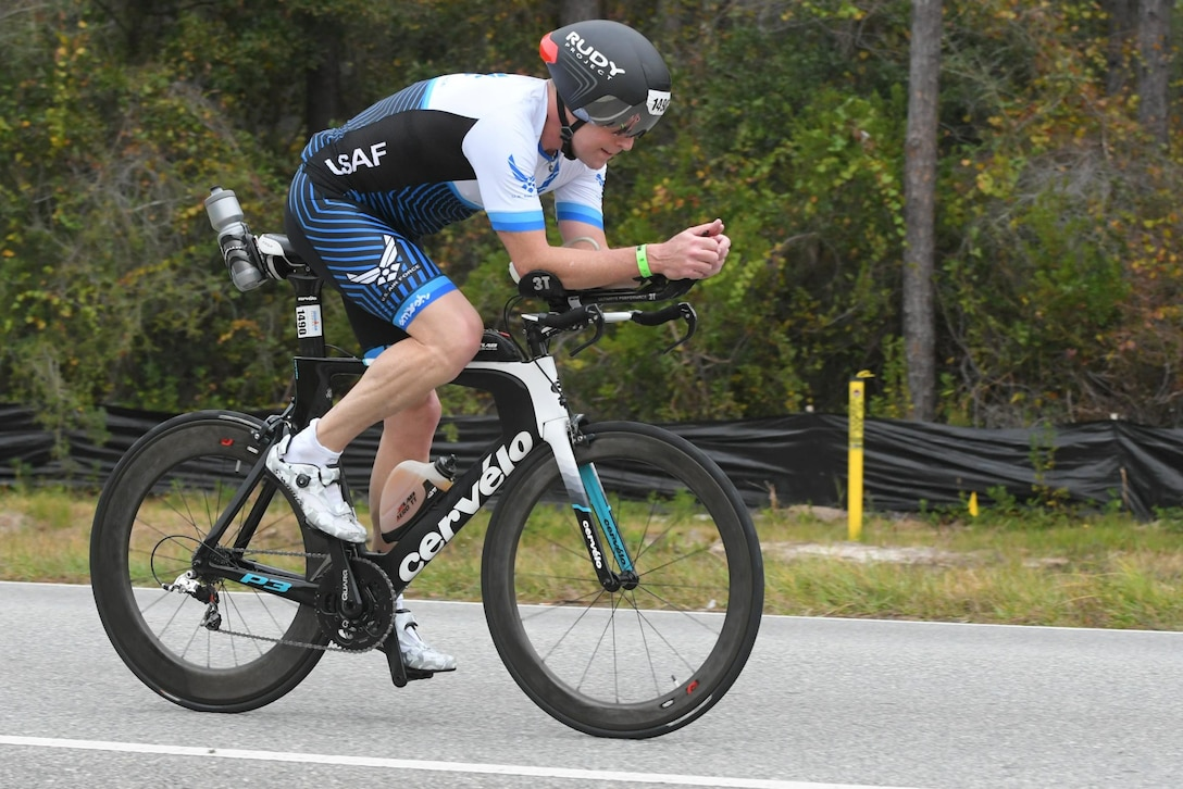 Brig. Gen. David W. Smith will be competing in the Ironman Triathlon World Championships in October. He encourages all Reserve Citizen Airmen to make physical fitness a priority. (Courtesy photos)