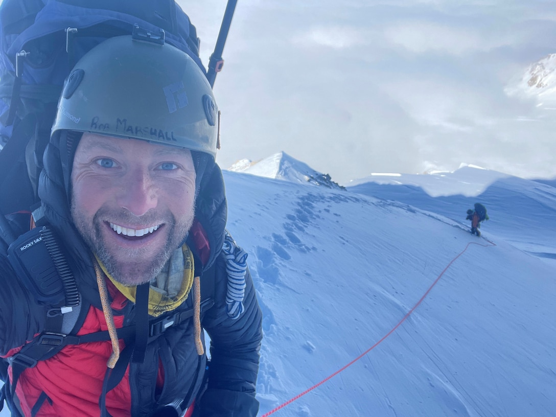 Marshall feels alive during the beginning of the team's summit push, several hundred feet above their high camp. (Lt. Col. Rob Marshall)