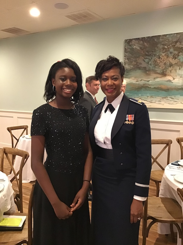 Kimberly , shown here with daughter, Sarah, is currently the commander of the 315th Force Support Squadron at Joint Base Charleston, South Carolina. (Courtesy photo)