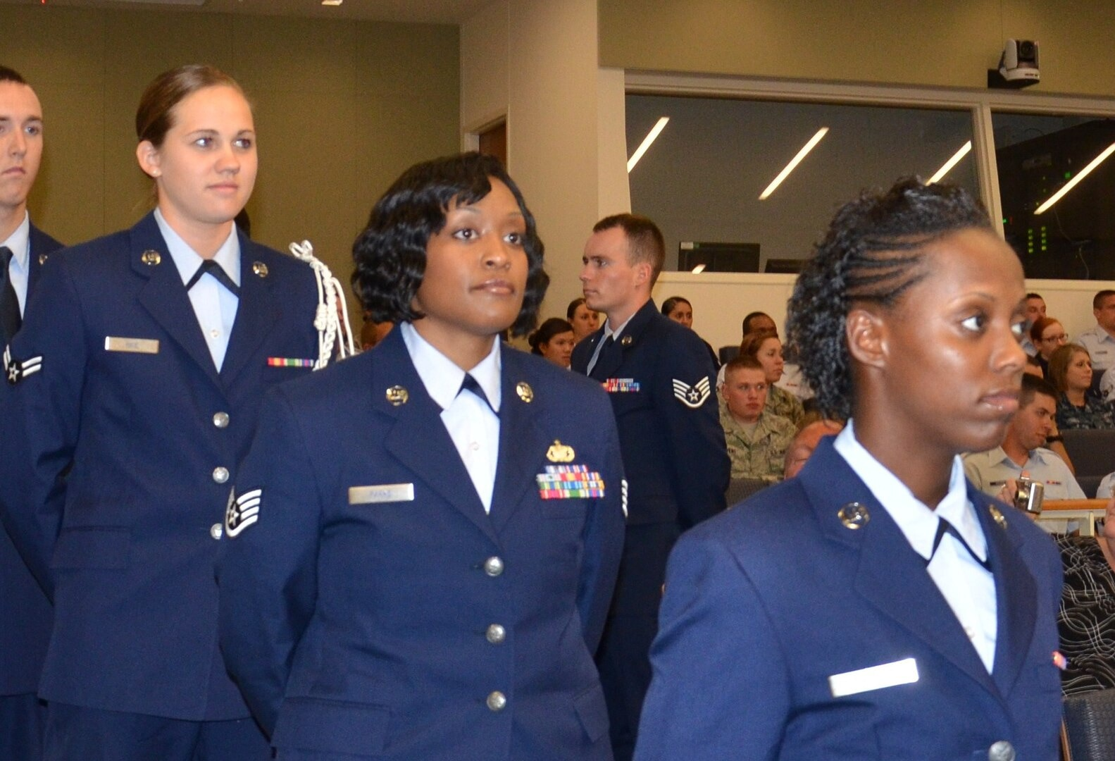 Medical Education and Training Campus Air Force students at graduation ceremony, prior to the COVID-19 pandemic.