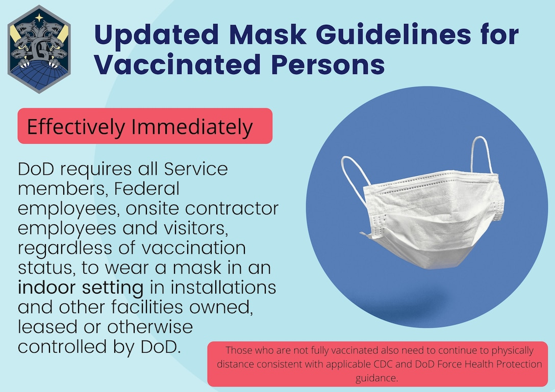 Updated Mask Guidelines for Vaccinated Persons graphic