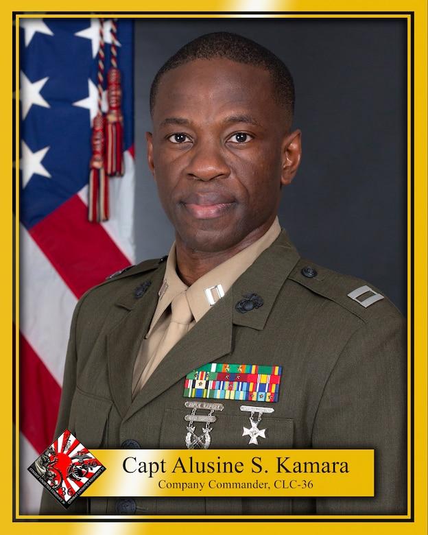 Captain Alusine S. Kamara official bio photo