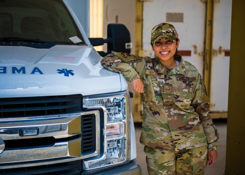 U.S. Air Force Staff Sgt. Janelle Vicente, 380th Expeditionary Medical Group mental health technician, is spotlighted for her superb resilience.