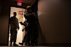 Airmen assigned to the 911th Security Forces Squadron conduct active shooter response training at the Pittsburgh International Airport Air Reserve Station, Pennsylvania, July 29, 2021. Security Forces members train routinely for real-world incidents they can encounter at any given time