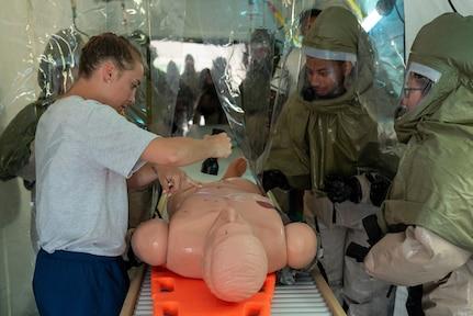 JBER hosts decontamination training exercise