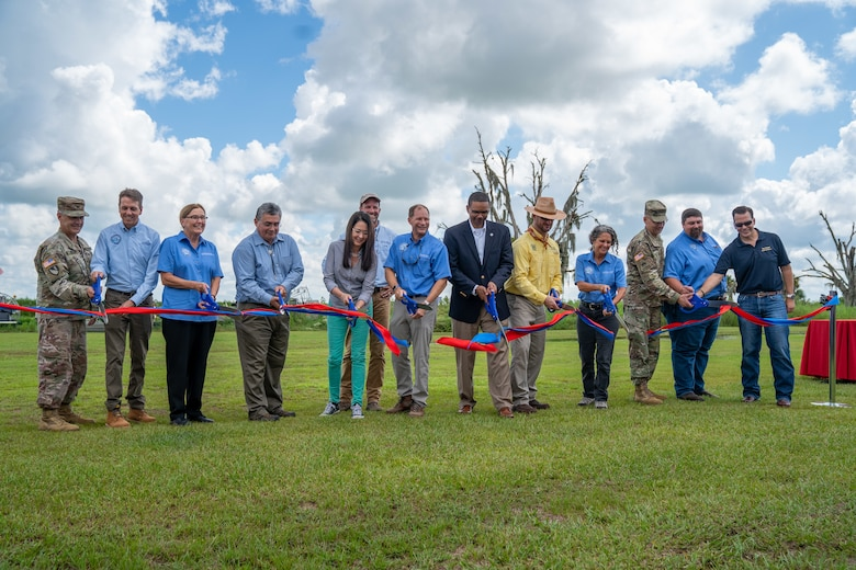 USACE and our partners celebrated the completion of construction on the Kissimmee River Restoration Project at a Ribbon Cutting Ceremony at Riverwoods Field Laboratory in Lorida, Florida.
