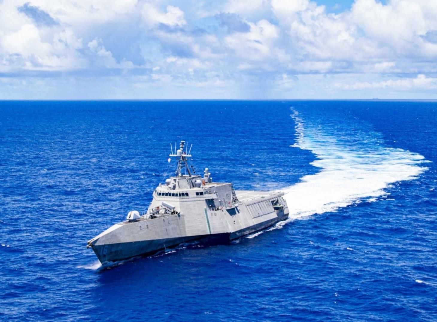 USS Tulsa (LCS 16) Sails In The Philippine Sea