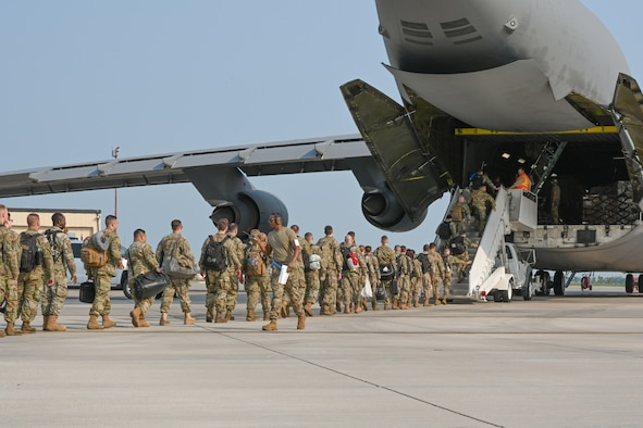 Airmen from the 5th Logistics Readiness Squadron perform their duties at Minot Air Force Base, North Dakota, July 16, 2021.