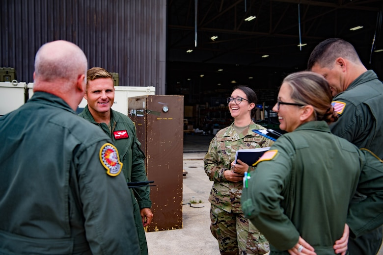 As a young girl Eva Chupp's Amish upbringing set the foundation for her life. Now Senior Airman Cupp is soaring as she trains to be an inflight refueling specialist at Grissom Air Reserve Base, Ind. (Courtesy photo/SrA. Eva Chupp)