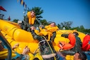 Aircrew members complete water survival training