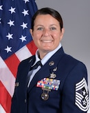 U.S. Air Force official photo of Chief Master Sgt. Barbara J. Gilmore, 403rd Wing command chief. (U.S. Air Force photo)