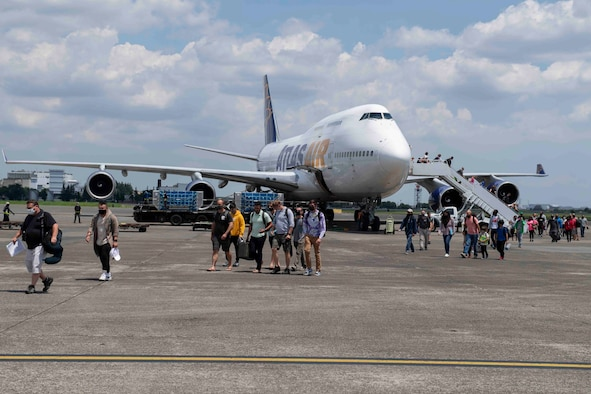 The 730th Air Mobility Squadron, located at Yokota Air Base, welcomed eight evacuated aircraft from Kadena Air Base in July ahead of Typhoon In-fa. The aerial port also maintained normal operations, including Patriot Express missions.