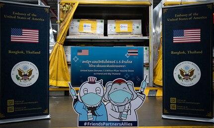 1.5 Million Pfizer Vaccine Doses Arrive in Thailand