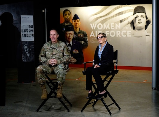 AFLCMC Lt. Gen. Morris and Ms. Watern Opening Remarks for Women in Acquisition event. (U.S. Air Force photo/Ty Greenlees)