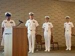 "Region Legal Service Office Southeast (RLSO SE) held a change of command ceremony May 14, 2021 at the Beacon aboard Naval Station Mayport, Fla. Master Chief Legalman Tiffany M. George, USN, Capt. Joseph Hoelz, USN. Rear Adm. Darse E. ""Del"" Crandall, Jr., USN, and Cmdr. Brian Korn, USN.  Photo credit: Lt. Cmdr. Nakku Chung, USN."