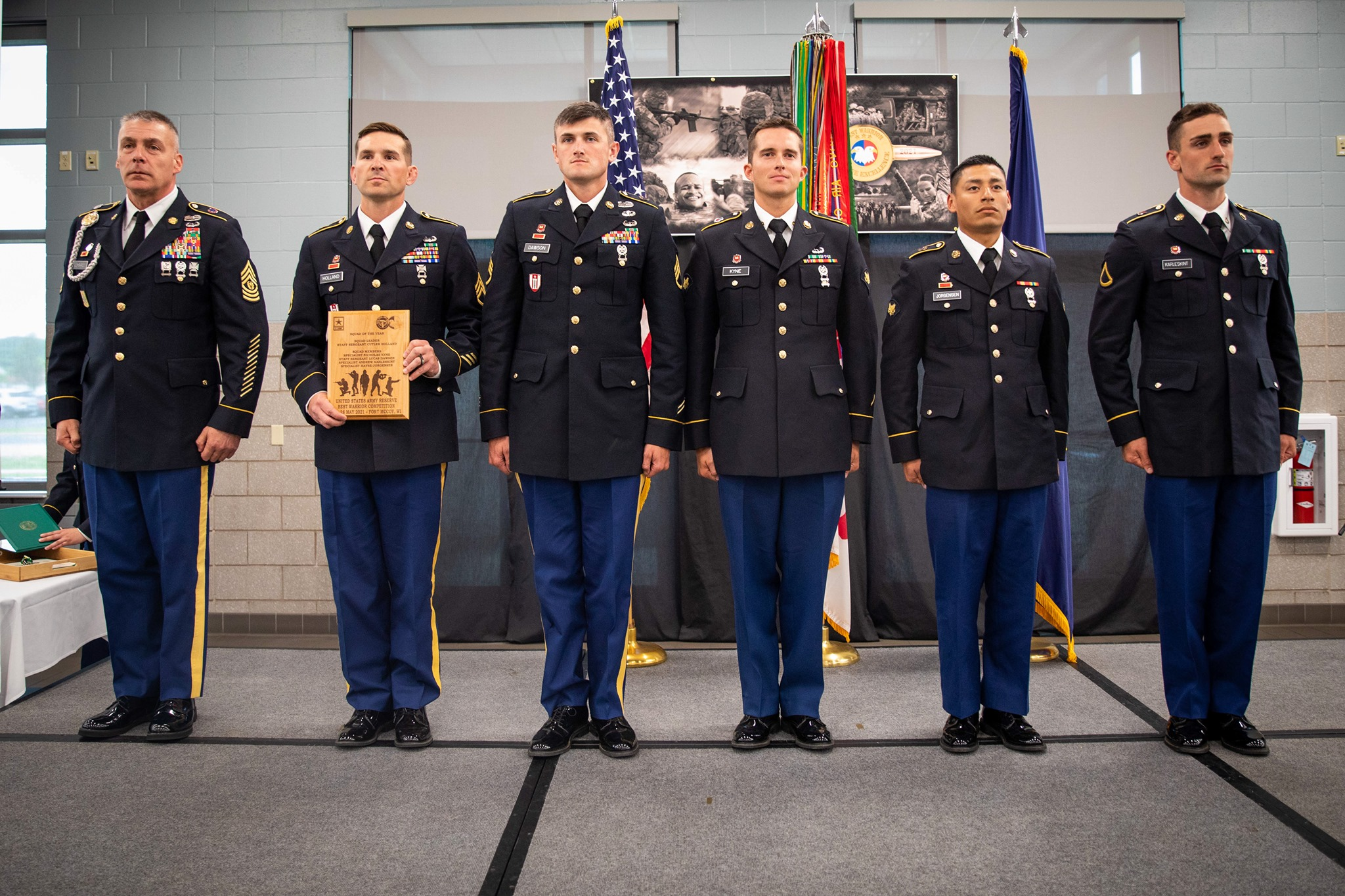 2021 Army Reserve Best Warrior Best Squad Winners