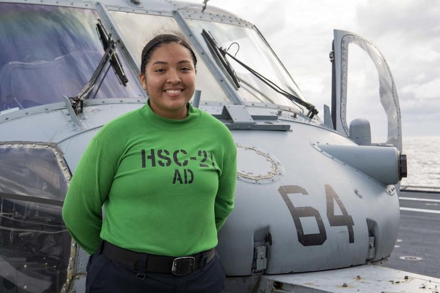 Aviation Machinist's Mate Elisa Morales