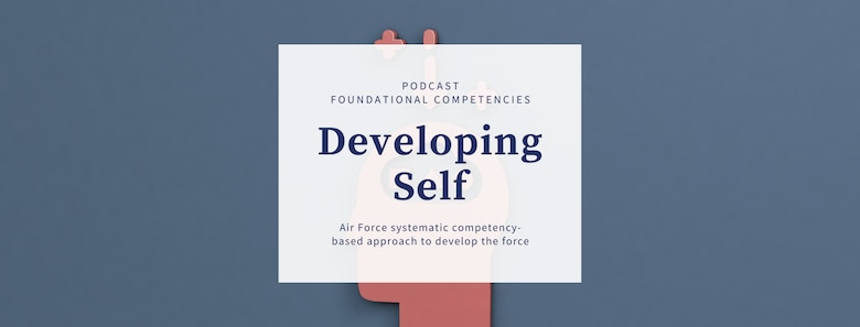 Graphic of Air Force Starts Here podcast.